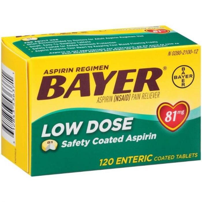Aspirin Regimen Bayer