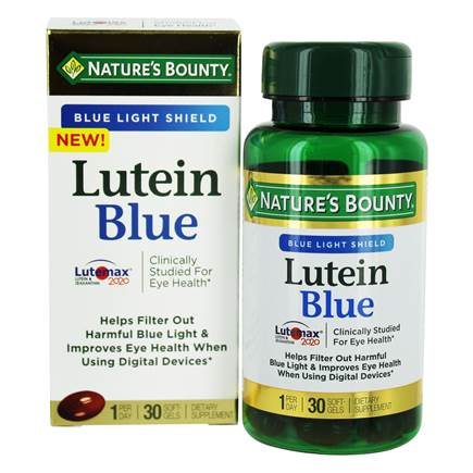 nature's bounty lutein blue
